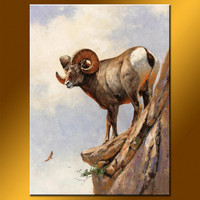 100% Handmade Wall Decoration Animal Oil Painting