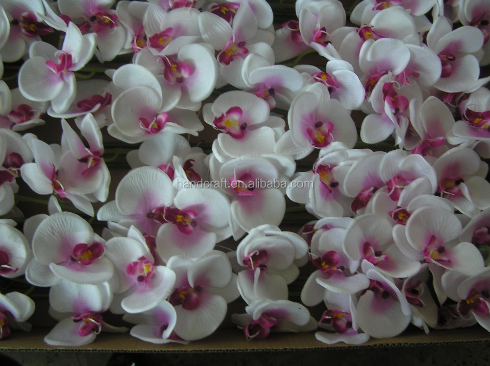 Pink silk flowers wedding favors orchids