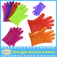 2014 Christmas Oven Baking Cook Pot Holder silicone finger protector mitt