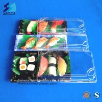 Clear Lid Disposable Plastic Sushi Tray