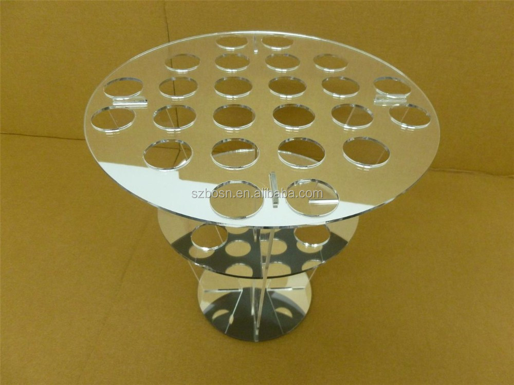 Pretty 24 socket clear acrylic ice cream holder lucite Perspex candy pop stand