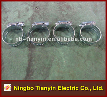 zinc plated worm drive perforated band pipe clip