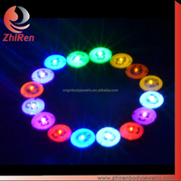ZhiRen New arrival LED fake ear plugs, magnetic non piercing earring, magnetic earring