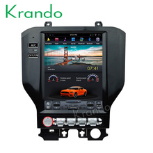 "Krando Android 10.4"" Vertical screen car radio player for Ford Mustang gps navigation multimedia system bluetooth KD-TV128"