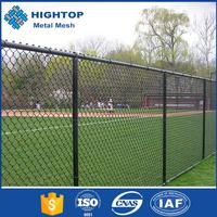 Used Black Green Vinyl Coated Black Chain Link Fence Wholesale (ISO Direct Factory)