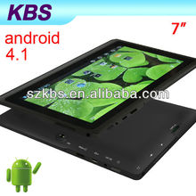 7 Inch Android 4.1 Android High Resolution Tablet Pc With 512MB 4GB To 16GB Laptop