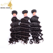 Mona hair latest 8A Peruvian natural wave singe donor double weft weave 2017 new trendy products