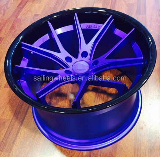 18/20'' Gloss blue car forged wheel rim for racing car