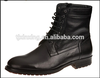 military split leather black mid-high boots with zipper on sale