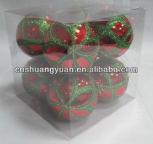 New design shiny red plastic christmas/Xmas ornaments