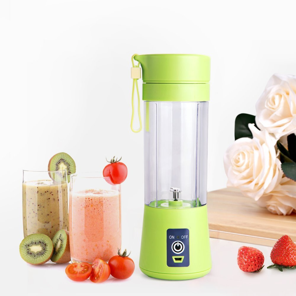 Hotsale mini pocket travel portable juicer blender 380ml with usb charger