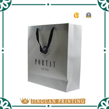 Custom printed different size packaging paper bag for shopping