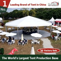Outdoor Hexagonal Gazebo / Octagon Gazebo Tent with Metal Roof