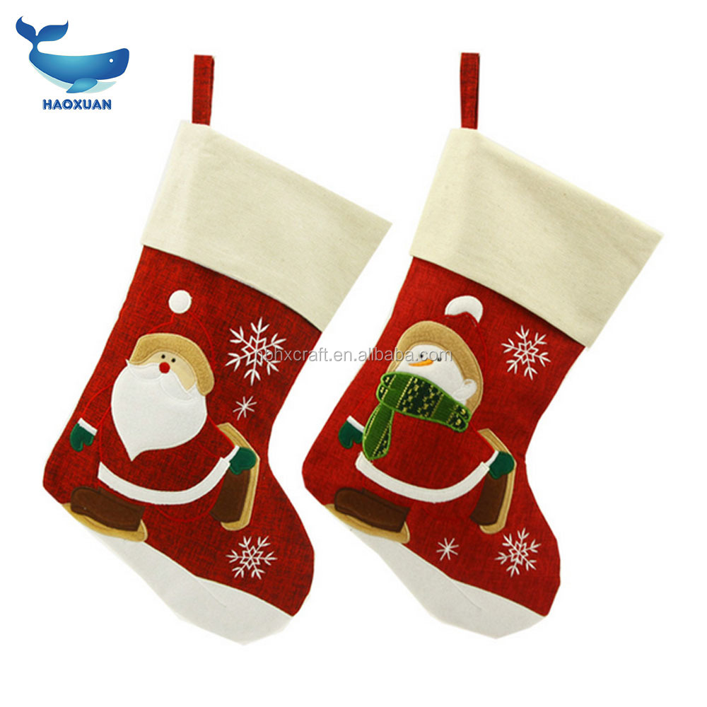 2017 Christmas decorations Santa Claus pattern Christmas socks Snowman socks