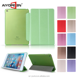 Hot Selling 10 Colors Soft PU Leather Case for iPad Mini 4 Smart Flip Cover