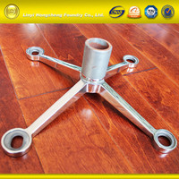 Stainless steel wall fitting parts glass spider