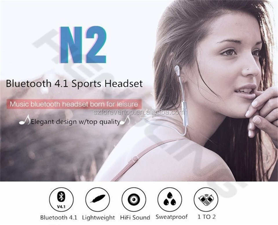 Headset sport sports stereo wireless bluetooth headset with High quality sport bluetooth headset V4.1
