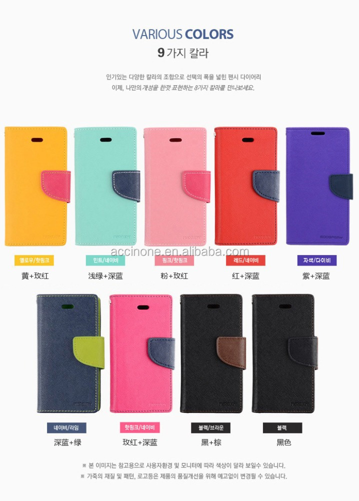 Popular Folio Flip Case Mecury leather Wallet Cover For iPhone 6 7 iphone7 plus galaxy s6 s7 A310 J510 NOTE 5