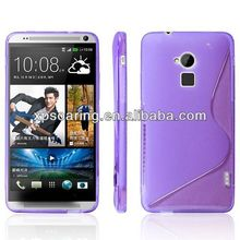 TPU S line back cover case for htc one Max T6