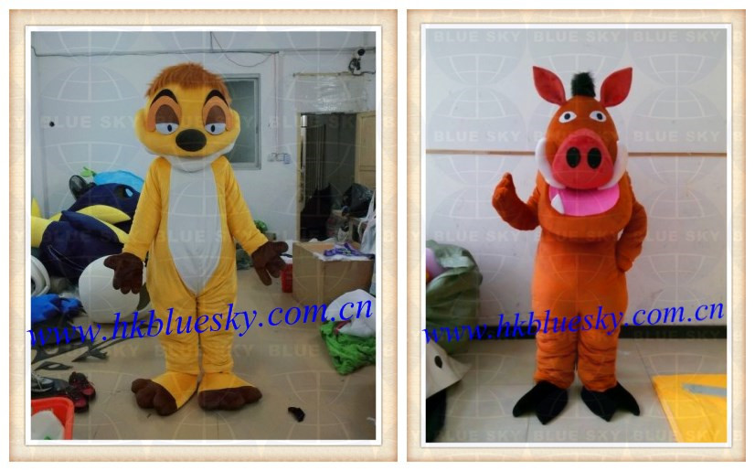 EVA head timon & pumba costume for adult