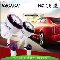 Car air purifier with USB car Charger, compact Car Aromatherapy Diffuser and Air Purify