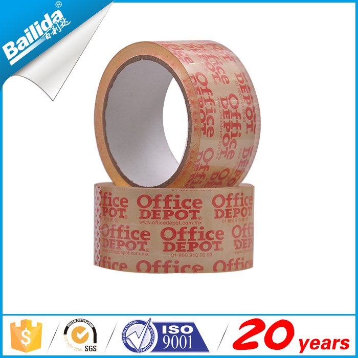 Yiwu factory logo printed adhesive opp bopp box packing tape for north america
