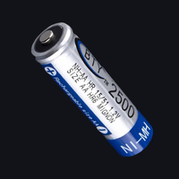 Rechargeable Batteries 1.2V 2500mAh NI-MH NIMH 1.2V Rechargeable Batteries AA