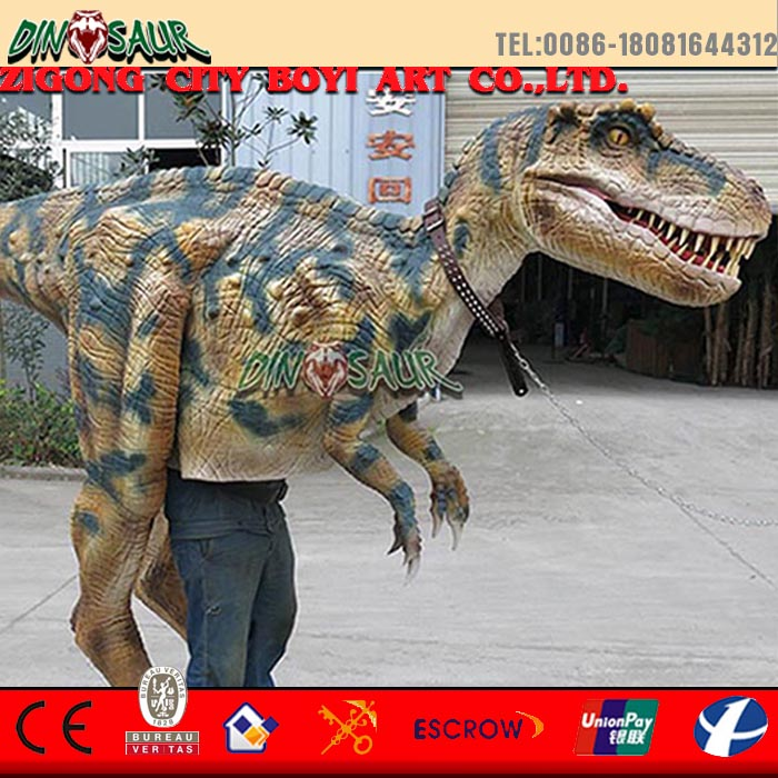 Realistic walking dinosaur costume for adult