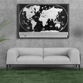 Scratch Off World Map Poster - US States and Flags AMA-73