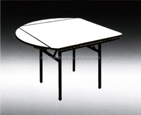 High-pressure Laminate Top Folding round square tables used in hotel, conference,meeting,restaurant and dining room