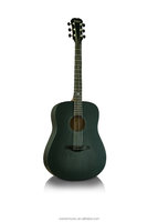 Acoustic wooden guitar, basic guitar for begainner Black DG100/BK