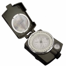 2016 Hot Sale Noctilucent Type Army Outdoor Use Military Travel Geology Pocket Prismatic Compass,Waterproof+Pouch