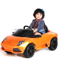 LED light battery operated plastic ride on car for kids toy children electric car wholesale