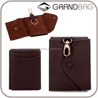 multifunction car key chain men business casual cow hide leather card holder leather key bag car key cover gift item