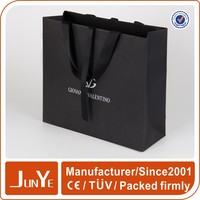 Best charming popular wedding black rope gift paper shopping bag