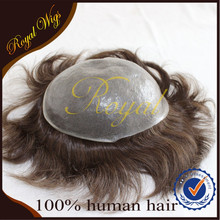 Factory Supply Men's Hair Prodcut Full Pu Super Thin Skin Toupee
