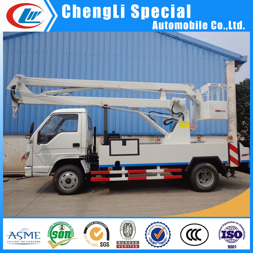truck mounted bucket 16meters 2 person lifting 16m high altitude platform truck