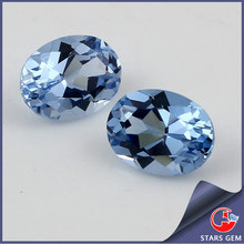 108# Oval Cut Synthetic Blue Gemstone Spinel Color Card
