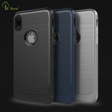 NEW matte brushed carbon fiber soft TPU case for iPhone X, shockproof back cover case for iphone X