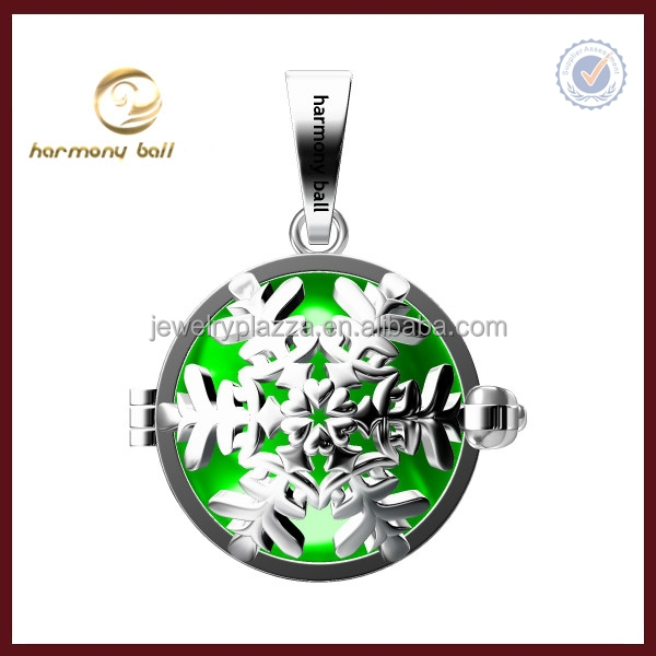Newest Design 925 sterling silver sknow flake mexican bola harmony ball