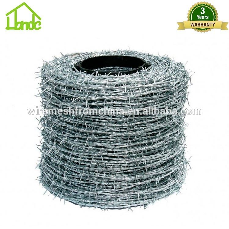 galvanized weight twisted barbed fence wire