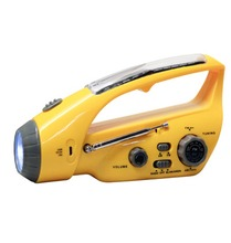 YJM-288 Emergency Usage Solar/crank Dynamo Torch with AM/FM Radio