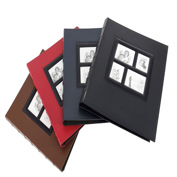12X18 Digital PU Photo Album Material With Leather Cover Transparent Pvc Sheet For Wedding Photo Album