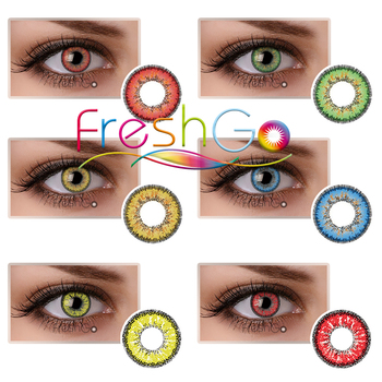 Freshgo Snow Green Red Special Effects Contacts Halloween Contact ...