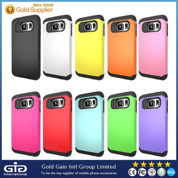 Slim Hard PC TPU Hybrid Armor Case For Samsung For Galaxy S6