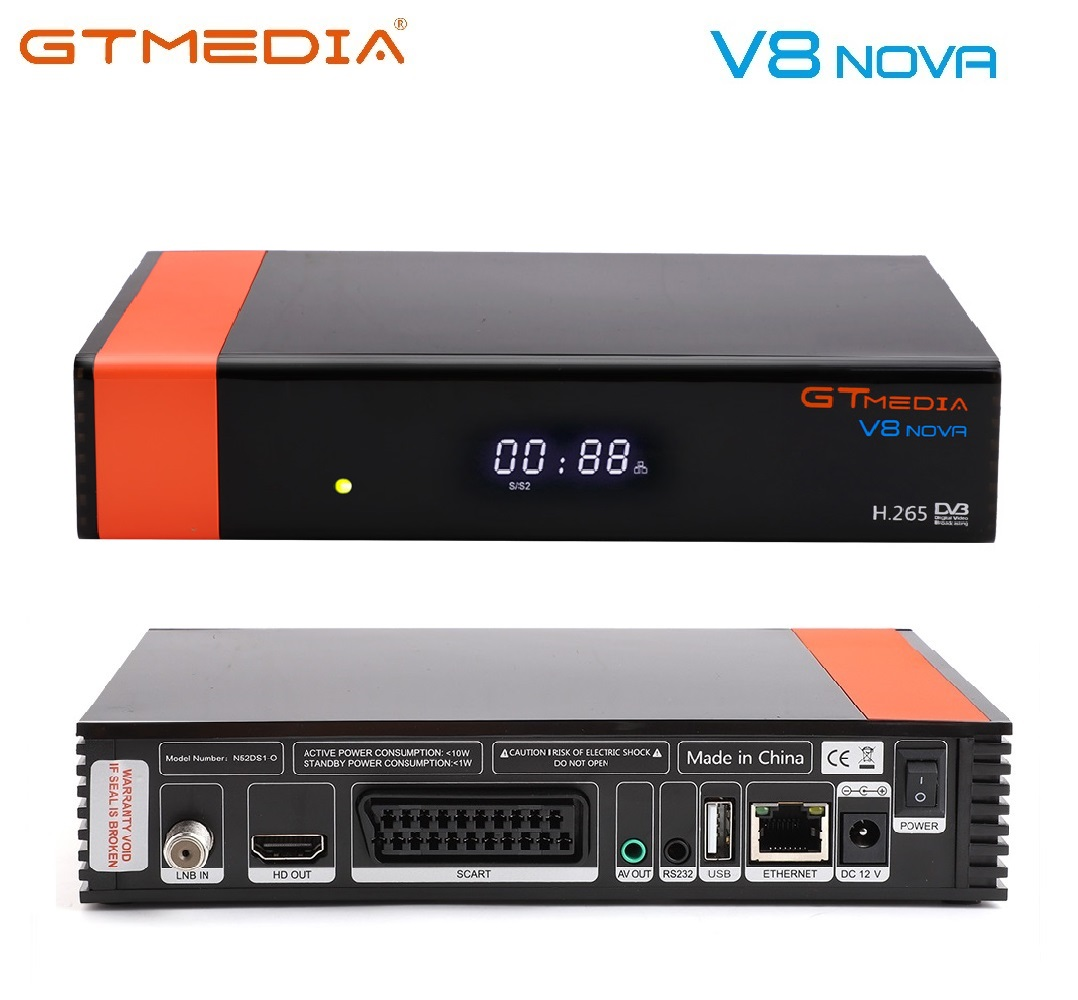 GT MEDIA V8 NOVA H.265 DVB-S2 HD <strong>Satellite</strong> Receiver Build in USB Wifi Support PowerVu Biss Key Cccamd Newcamd Youtube IPTV