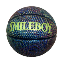 Custom gold logo size 7 colorful composite leather basketball ball