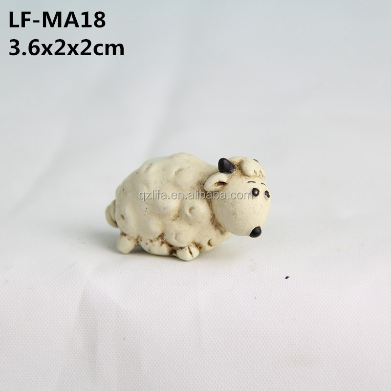 Mini religious resin live sheep statues for sale