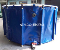 Foldable large plastic fish ponds/ polyethylene fish tanks