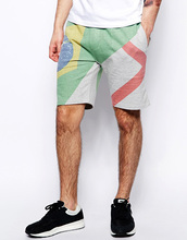 2014 Pant Collection fleece short pant with flag design